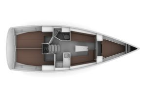 2019 Bavaria Cruiser 34 2 Cabins 1 Head Layout