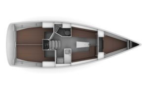 2019 Bavaria Cruiser 34 3 Cabins 1 Head Layout