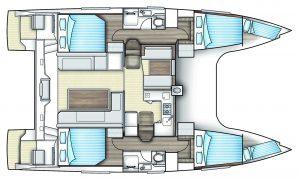 Nautitech Open 40 4 Cabins 2 Heads Layout