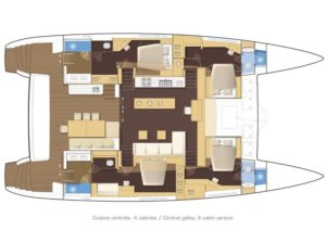 Lagoon 620 4 Cabins 4 Heads Layout