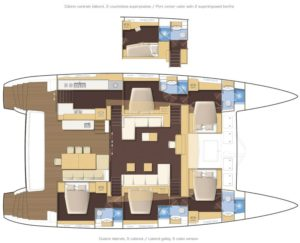 Lagoon 620 5 Cabins 5 Heads Layout