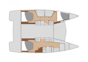 Lucia 40 3 Cabins 3 Heads Layout