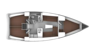 2019 Bavaria Cruiser 37 3 Cabins 1 Head Layout