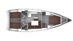 Bavaria Cruiser 46 Layout 3C 3H