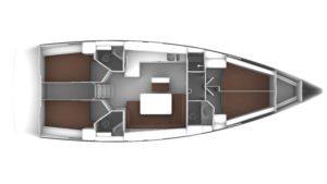 Bavaria Cruiser 46 Layout 4C 3H