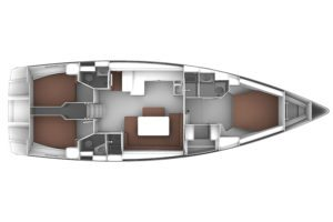 Bavaria Cruiser 51 3 Cabins, 3 Heads Layout