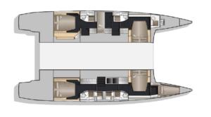 Nautitech 541 5 Cabins 5 Heads Layout
