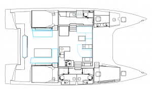 Nautitech 46 Fly 3 Cabins 3 Heads Layout