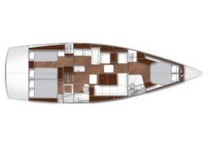 2019 Bavaria Vision 46 3 Cabins 2 Head Layout