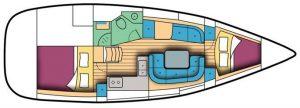 Jeanneau SO 36i layout