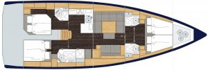 bavaria cruiser 50 Layout 4 Cabins 4 Heads