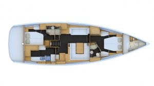 2019 Jeanneau 54 2 Cabins 2 Heads Layout