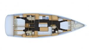 2019 Jeanneau 54 3 Cabins 3 Heads Layout