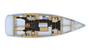 2019 Jeanneau 54 4 Cabins 4 Heads Layout
