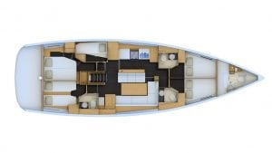 2019 Jeanneau 54 5 Cabins 3 Heads Layout