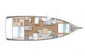Sun Odyssey 440 2 Cabins 2 Heads Layout
