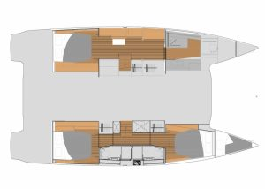 Fountaine Pajot 45 Layout Maestro Version 3 Cabins 3 Heads