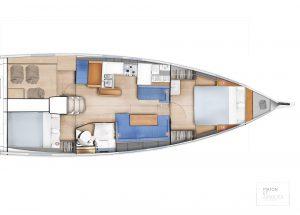 Sun Odyssey 410 - Layout_8 2C 1H - DWardrobe