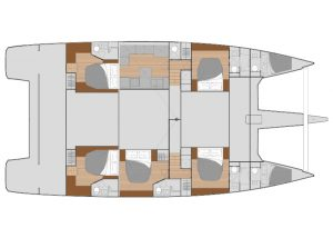 Fountaine Pajot Alegria 67 - Layout 5C 6H