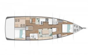 2019 Jeanneau 490 2 Cabins 2 Heads Layout