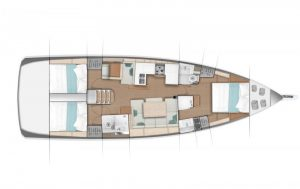 2019 Jeanneau 490 3 Cabins 2 Heads Layout