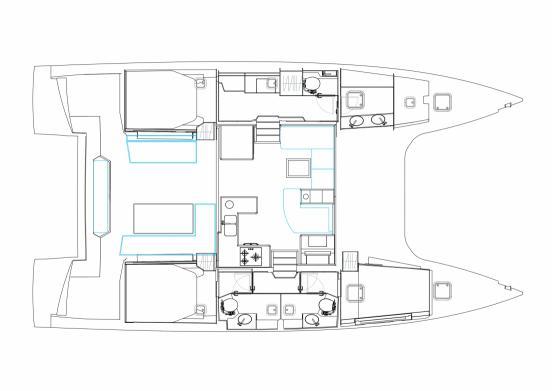 Nautitech Open 46 3 Cabin 3 Head layout