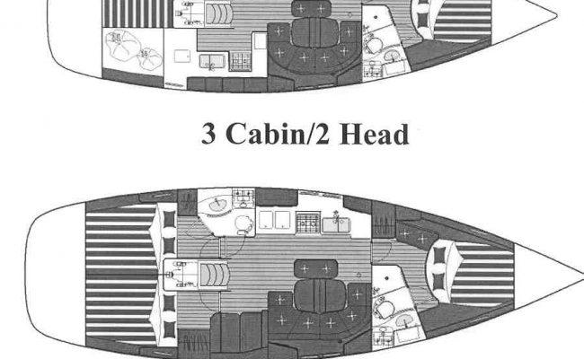 Beneteau 423 'Kasoumai' 2 Cabins 2 Heads Layout