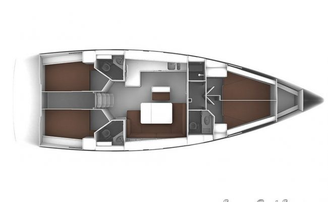 2016 Bavaria 46 4 Cabins 3 Heads Layout