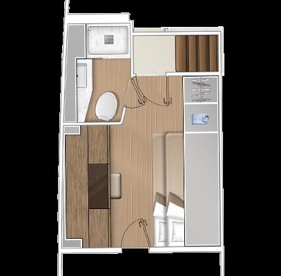 Lagoon 65 'Sixty 5' 1 Cabin, 1 Head Layout