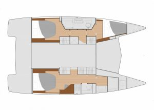 Fountaine Pajot Isla 40 Layout