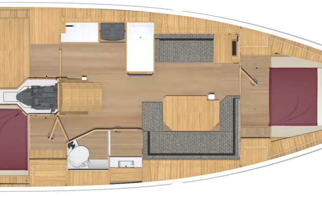 Brand New BAVARIA C38 2 Cabins, 1 Head Layout
