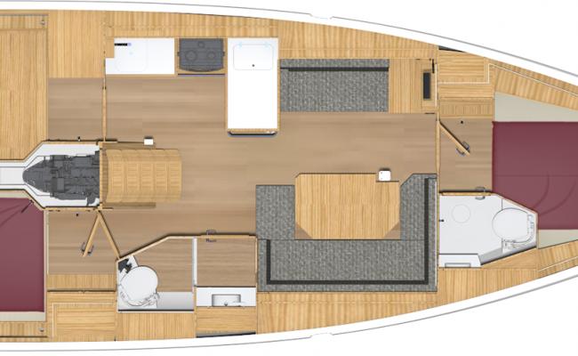 Brand New BAVARIA C38 2 Cabins, 2 Heads Layout