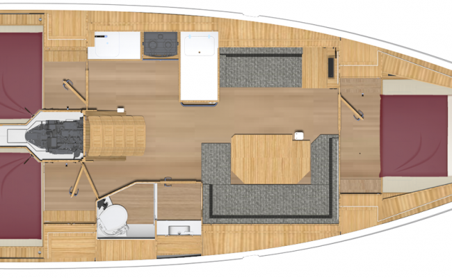 Brand New BAVARIA C38 3 Cabins, 1 Head Layout