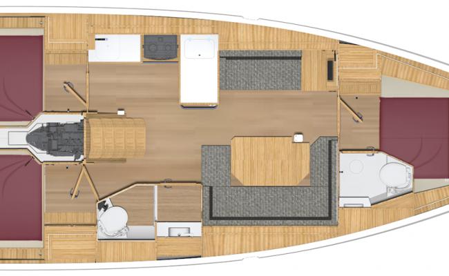 Brand New BAVARIA C38 3 Cabins, 2 Heads Layout