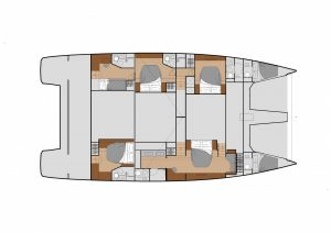 Fountaine Pajot Power 67 Layout