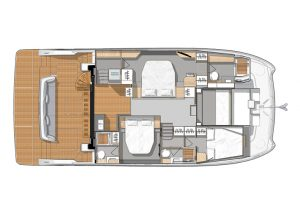 MY6 3 Cabins, 3 Heads Layout